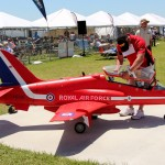 How big are the models flown at Top Gun? Here's Scott Marr prepping his BAE Hawk for a flight.