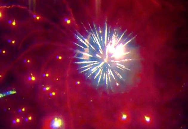 Fireworks: a drone's-eye-view