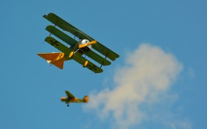2 planes in the air
