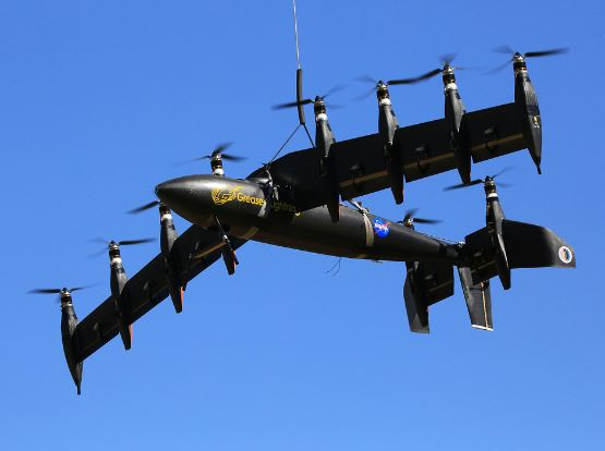 Greased Lightning: 10 electric motors, 10-foot wing!
