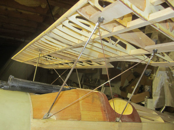 Sopwith Camel Build-Along Part 14 — Cabane Struts and Top Wing