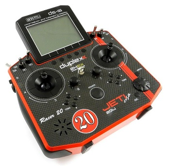 Esprit Model 'Limited Edition' Red Racer & Black Phoenix Jeti Duplex 2.4GHz DS-16 Carbon Radio Systems