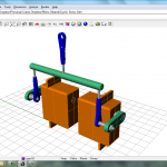 To allow moving the motor aft and eliminate the anti-rotation bracket, I designed this yoke to work with a pair of cyclic servos.