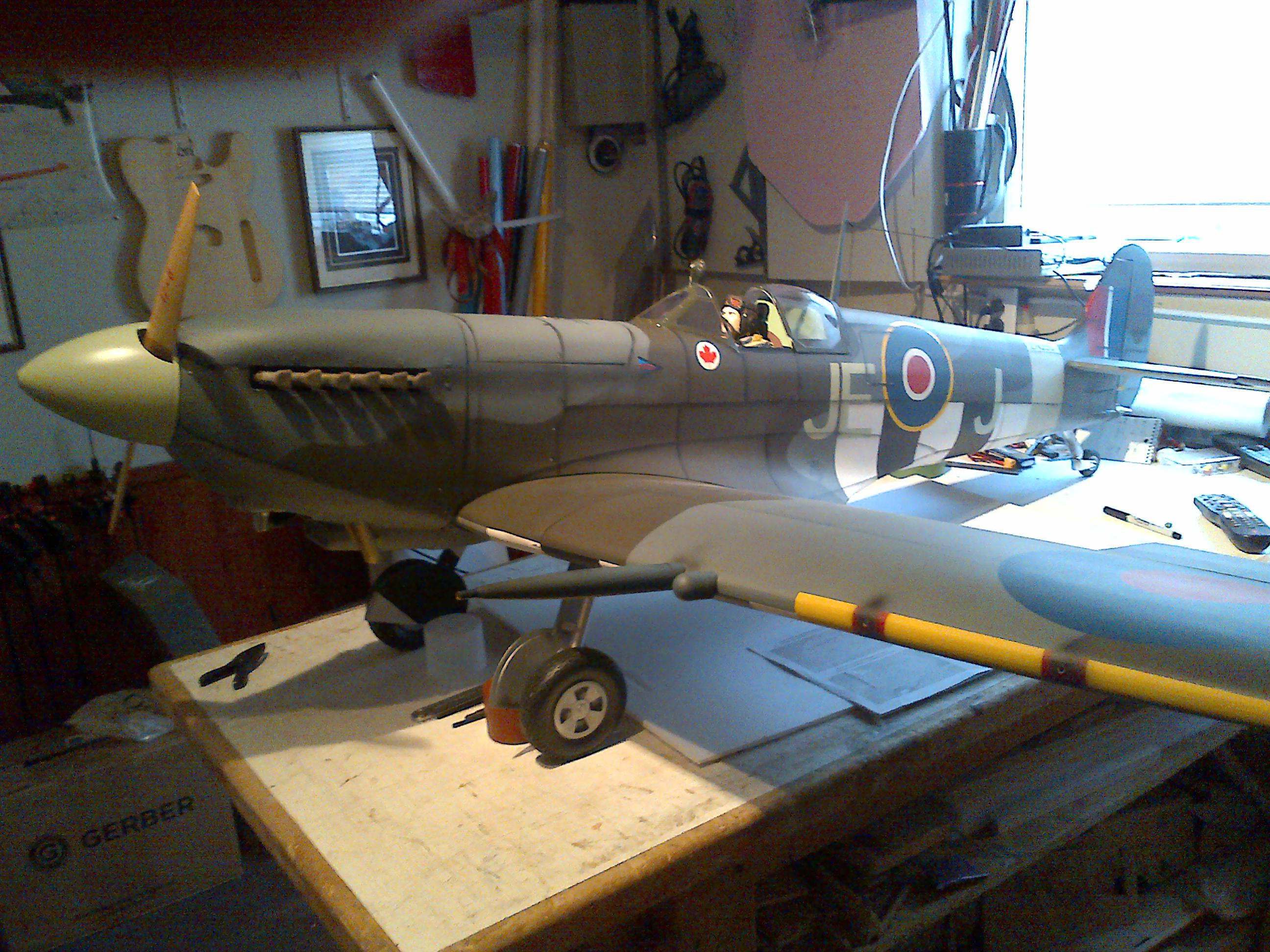 Hangar 9 Spitfire ARF 30cc modifications