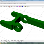 Rhino 3D view of pitch control arm.