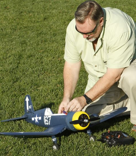 Parkzone F4U Corsair SAFE Technology Sneak Peek Radio Control