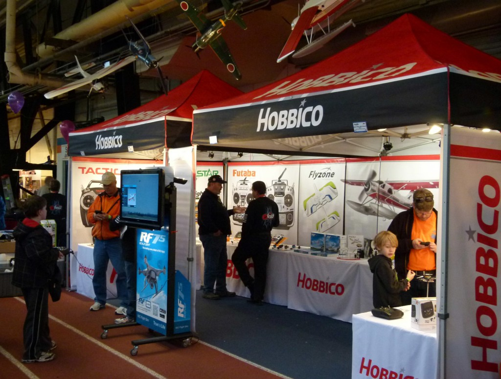 Hobbico's booth was busy all weekend, particularly with young pilots trying out RealFlight 7.5, the latest version of Great Planes' outstanding flight sim.