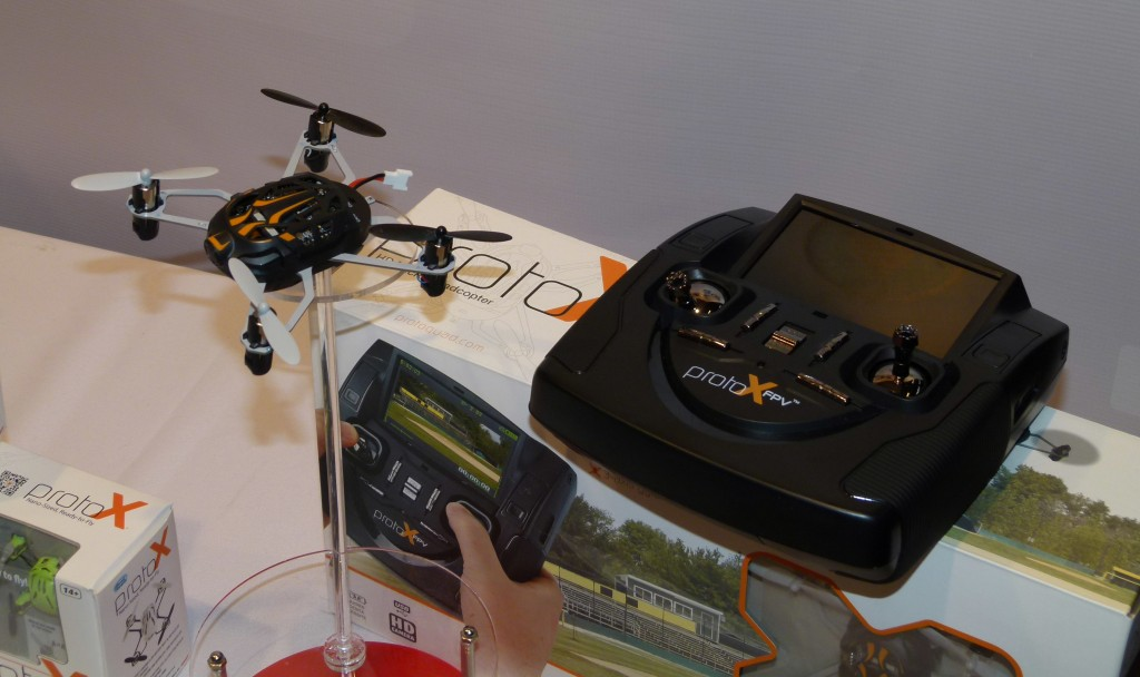 Estes' tiny Proto-X quadcopter has been joined by the slightly larger Proto-X FPV.  This nifty little drone streams full-color video to a display in the transmitter.  Performance and video range are ideal for large indoor spaces and back yard flying.
