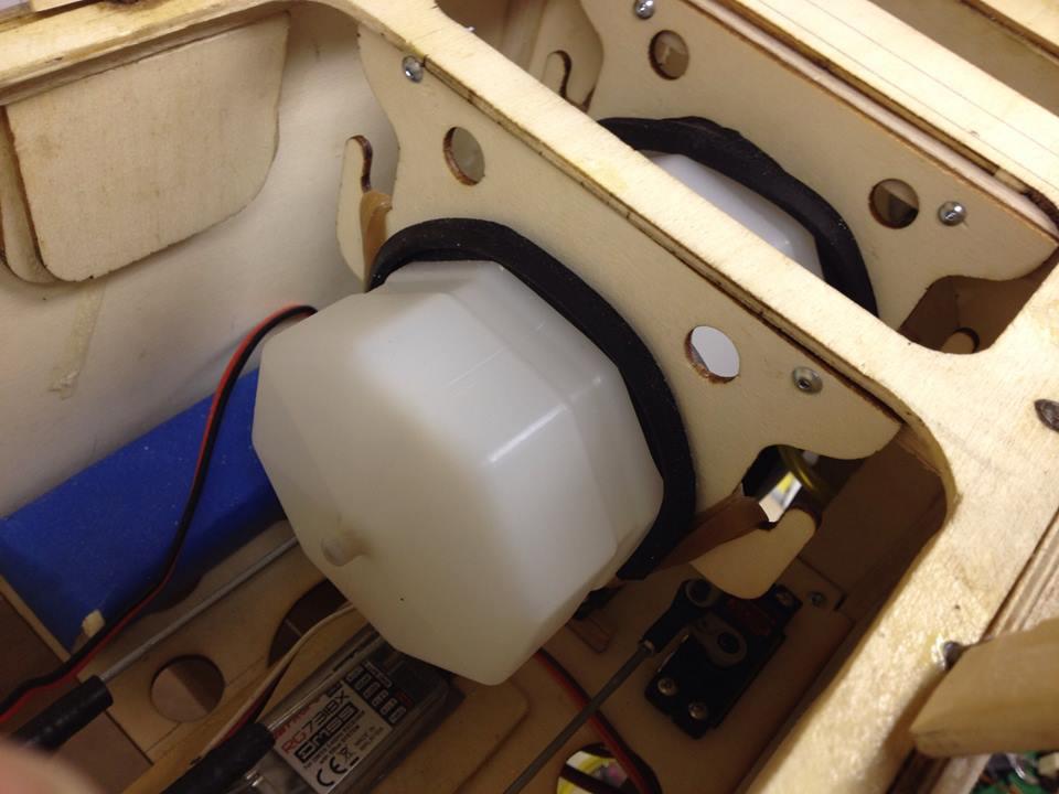 radio control rc  fuel tank installation