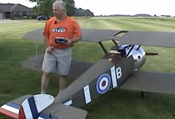 Half-Scale RC Sopwith Camel -- Video of the Day Radio Control
