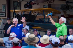 Auctioning the Stearman at Joe Nall