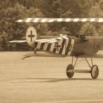 Nastalgic Tri-Plane Takes The Runway