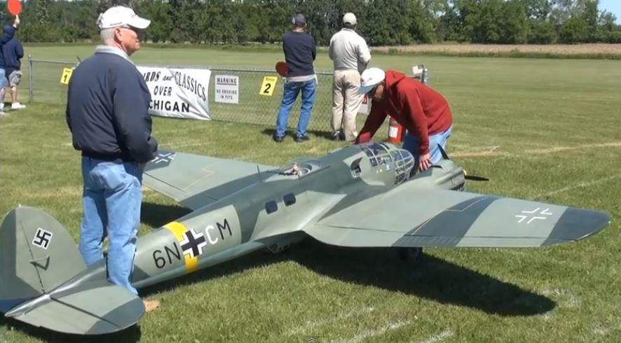 Huge, 14-foot-span Heinkel 111