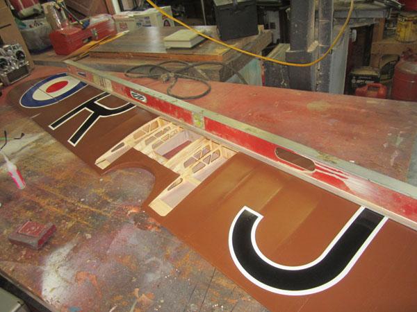 RC Radio Control, Scale Stits Sopwith Camel, Repair, Poly Tone Paint, F&M Enterprises