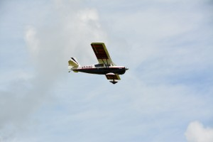 Dave Laver pilots his giant Citabria, wowing the crowd.