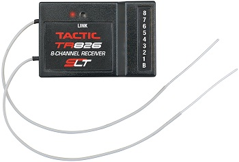 Tactic TR826 8-Channel 2.4GHz Twin Antenna Receiver With End Terminals