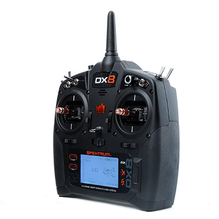 Spektrum DX8 Gen 2 DSMX 8-Channel Transmitter Mode 2 With AR8000 Receiver