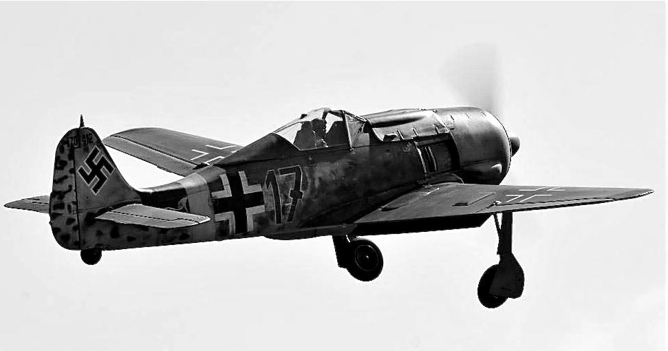 Matt Lupri FW190 in air
