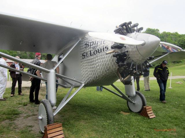 Debut Flight of Old Rhinebeck Aerodrome's Spirit of St. Louis — with video