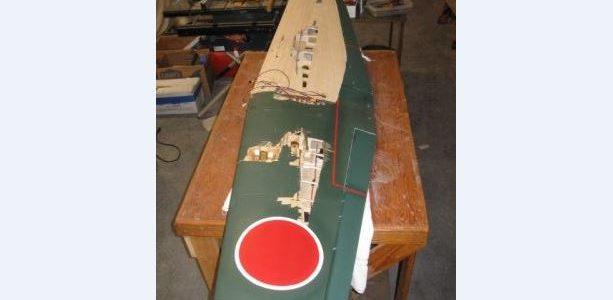 RC Model Airplane Wing Repair