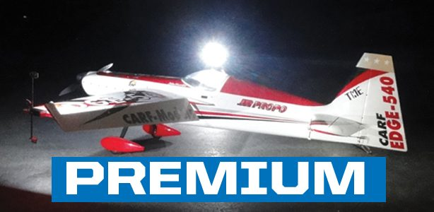 Set up your plane for aerobatic night flights