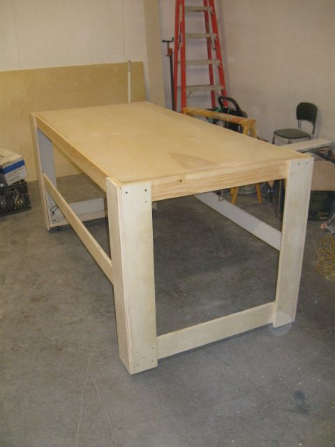Only thing missing is the top working surface. Finished table is very strong yet very light.