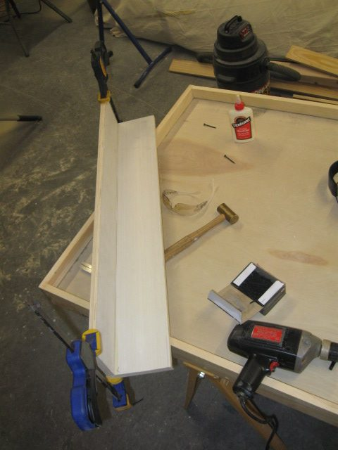 Next you glue and screw them together. Not impossible to make shorter at this point, but more work - last chance ...