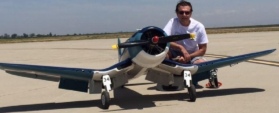 Top Gun Jamie Fiffles Chance Vought F4u Corsair Model