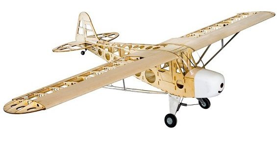 Hobby King Piper J-3 Cub Balsa Wood RC Airplane Laser Cut