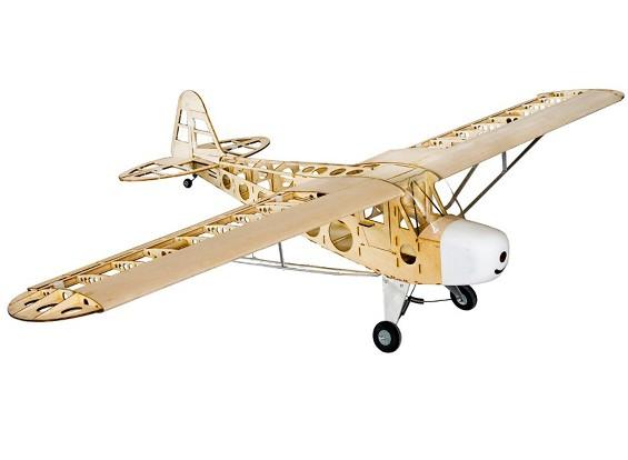 Hobby King Piper J 3 Cub Balsa Wood Rc Airplane Laser Cut