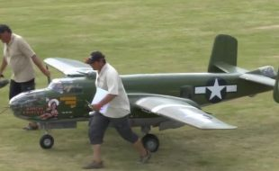 1/3-Scale  B-25 Mitchell Bomber  22 feet of RC Excitment