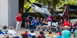 AMA staff hold their annual meeting on the Triple Tree Aerodrome grounds