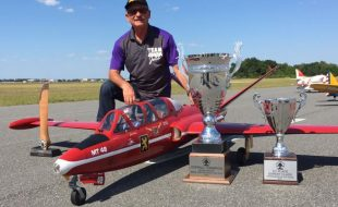 Two Time Mr. Top Gun winner,  Jack Diaz and his Fouga Magister