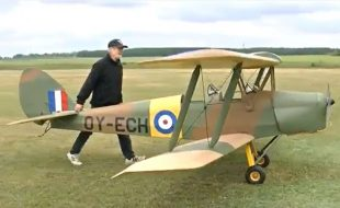 Half-Scale Tiger Moth Takes Flight