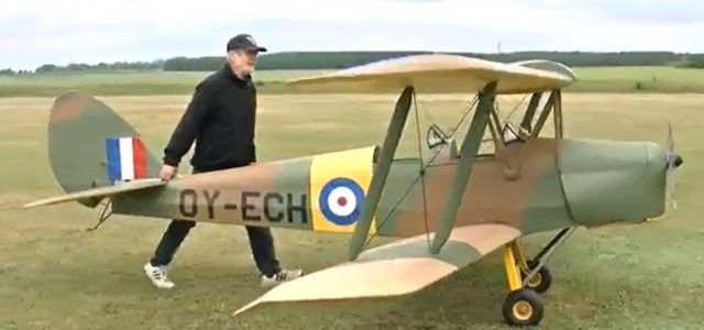 Half-Scale RC Tiger Moth Takes Flight