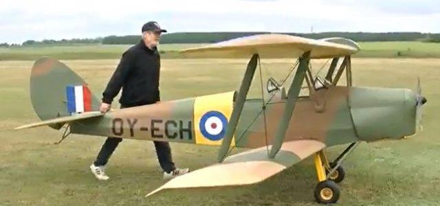 Half-Scale Tiger Moth Takes Flight
