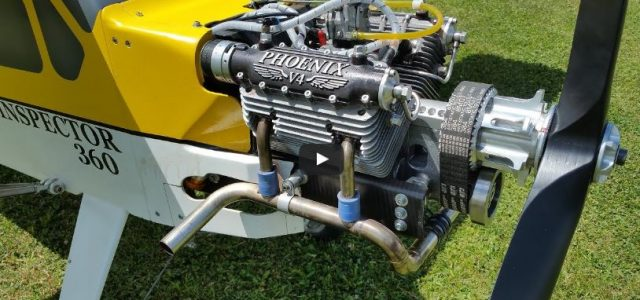 Model Airplane Engine — Homemade Big-Block Powerhouse (220cc V4!)