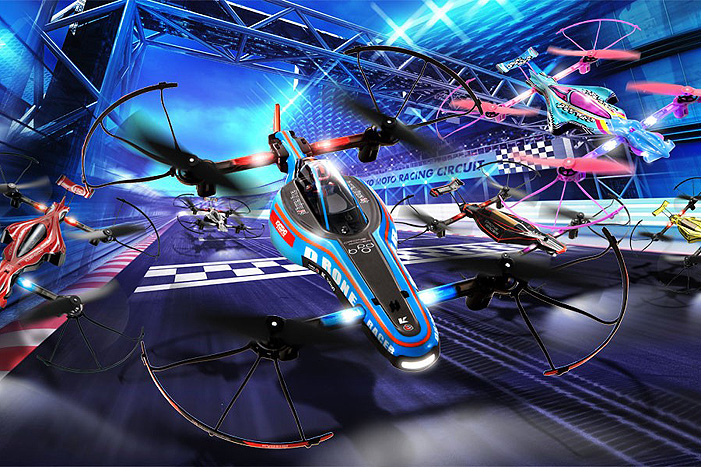 Kyosho ReadySet 1_18 Drone Racer B-Pod Blue (1)