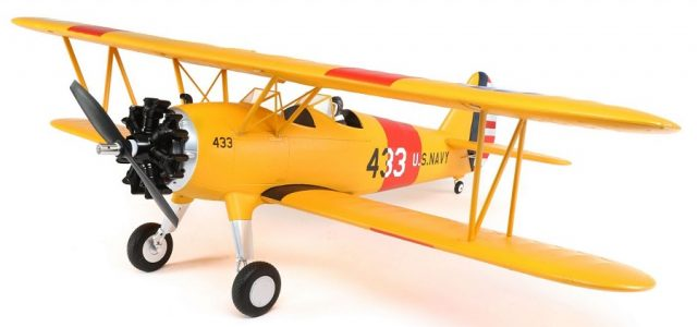 RC Model Airplane E-flite PT-17 BNF VIDEO