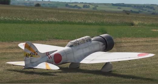 Giant RC Aichi Takes Flight