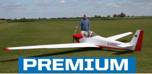 RC Model Scheibe SF-33 Motor Glider — A 20-year building project takes flight