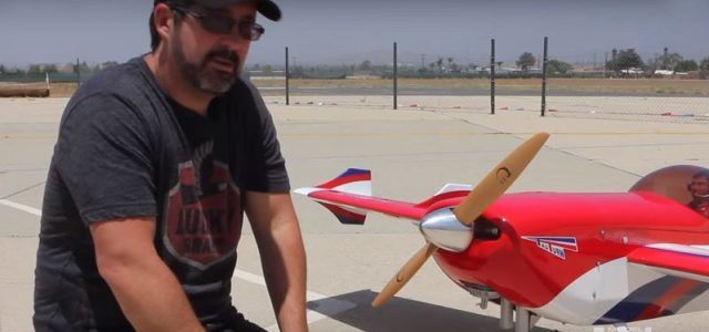 RC Airplane Gas Engines — Hand-cranking the safe way