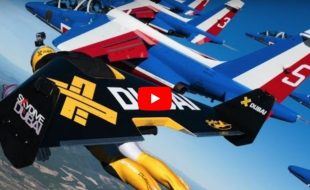 JetMen Fly in Formation with Full-size Jets!