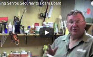 RC Workshop Video Tip — Attaching servos securely to lightweight foam board