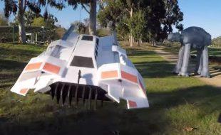 RC Star Wars Snowspeeder vs. AT-AT