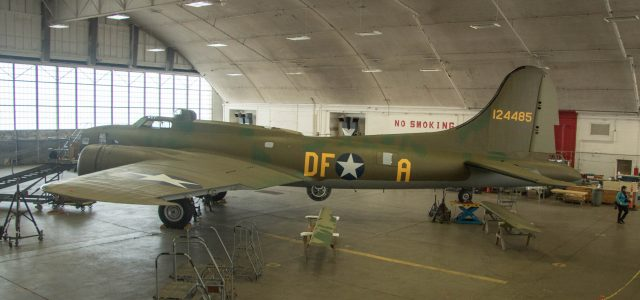 During a January 4, 2018 media event at the restoration hangar, curators at the United States Air Force Museum showcased progress in restoring the Memphis Belle, flown by the aircrew to complete a 25-mission combat tour over Europe.
