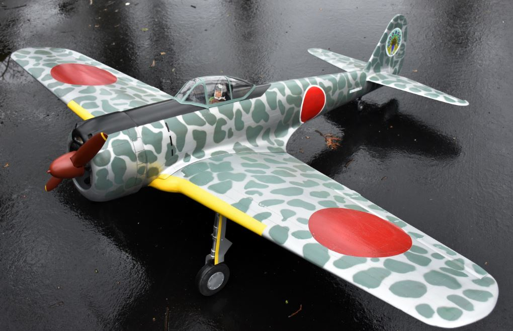 rc model airplane, radio control scale, japanese fighter, giant scale