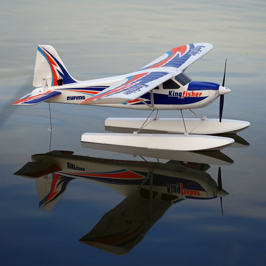 FMS Kingfisher PNP, 1400mm with Wheels, Floats, Skis and Flaps