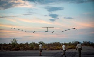 Undated Airbus handout photo of the Zephyr S, a solar-powered drone to be used by the British military, as its developer Airbus said it has set a new flight record.