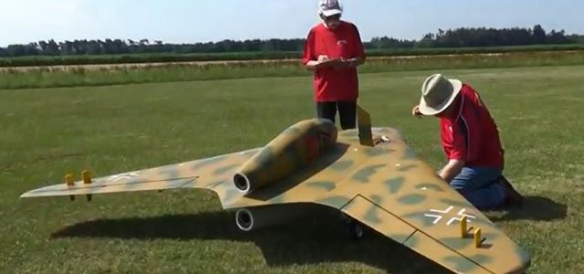RC WW II Luftwaffe Flying Wing Takes Flight